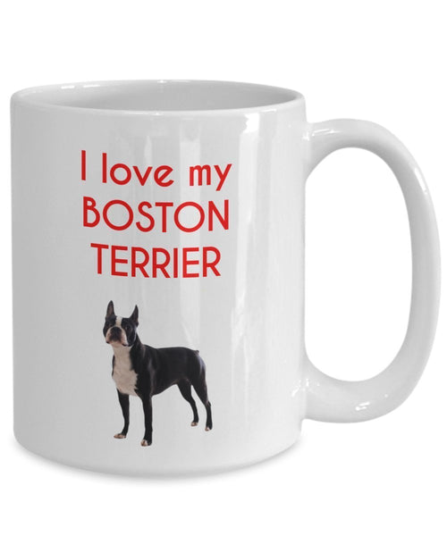 Boston Terrier Mug - Funny Tea Hot Cocoa Coffee Cup - Novelty Birthday Christmas Anniversary Gag Gifts Idea