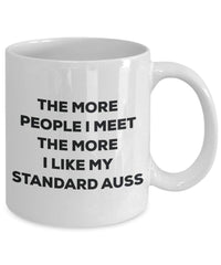 The more people i meet the more i Like My standard Auss mug – Funny Coffee Cup – Christmas Dog Lover cute GAG regalo idea 11oz Infradito colorati estivi, con finte perline