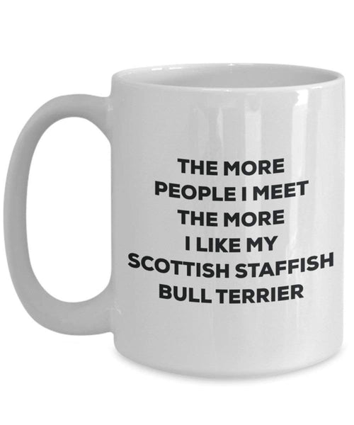 The more people i meet the more i Like My Scottish Staffish Bull terrier mug – Funny Coffee Cup – Christmas Dog Lover cute GAG regalo idea 11oz Infradito colorati estivi, con finte perline