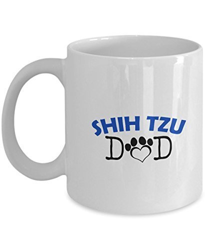 Funny Shih Tzu Couple Mug – Shih Tzu Dad – Shih Tzu Mom – Shih Tzu Lover Gifts - Unique Ceramic Gifts Idea (Dad)