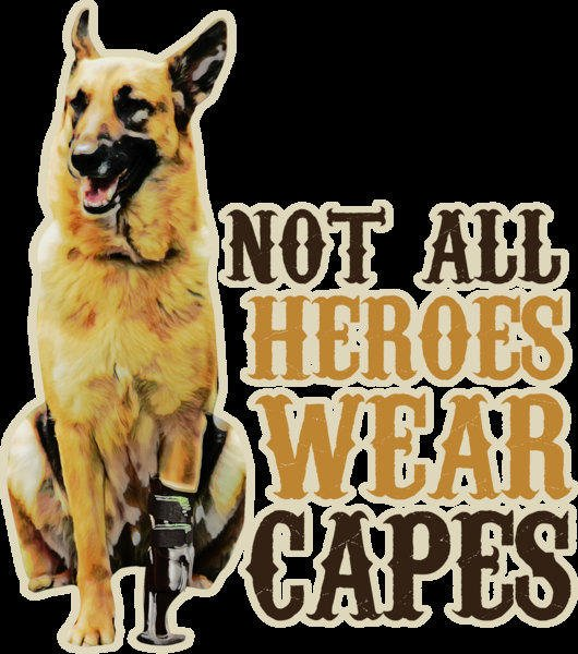 Army dog mug - Not all heroes wear capes - War dog gifts