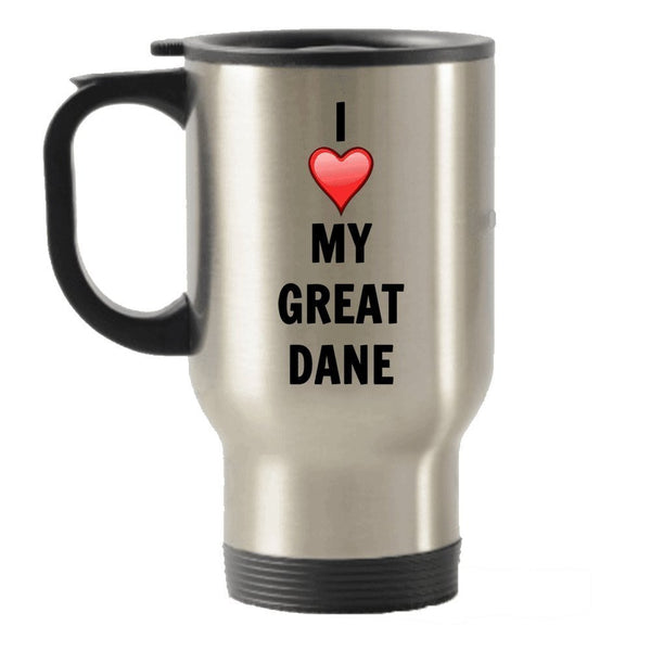 I Love My Great Dane Stainless Steel Travel Insulated Tumblers Mug