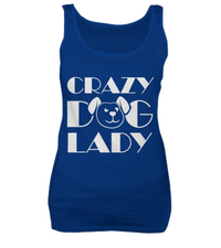 Crazy dog lady - tank + tee - Dogs Make Me Happy - 4