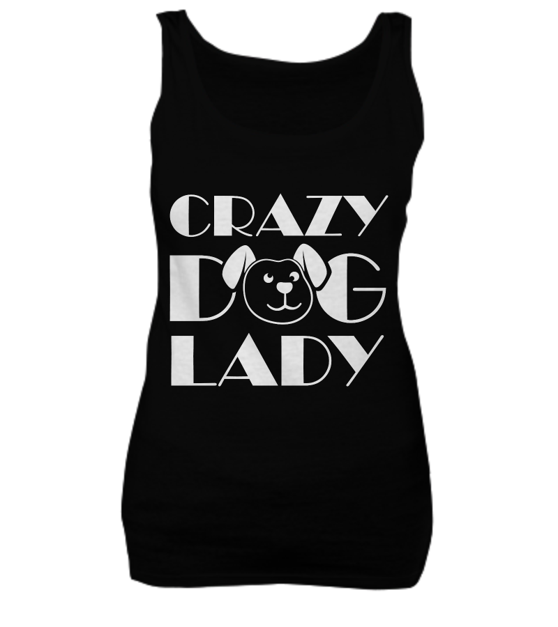 Crazy dog lady - tank + tee - Dogs Make Me Happy - 5