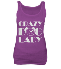 Crazy dog lady - tank + tee - Dogs Make Me Happy - 1