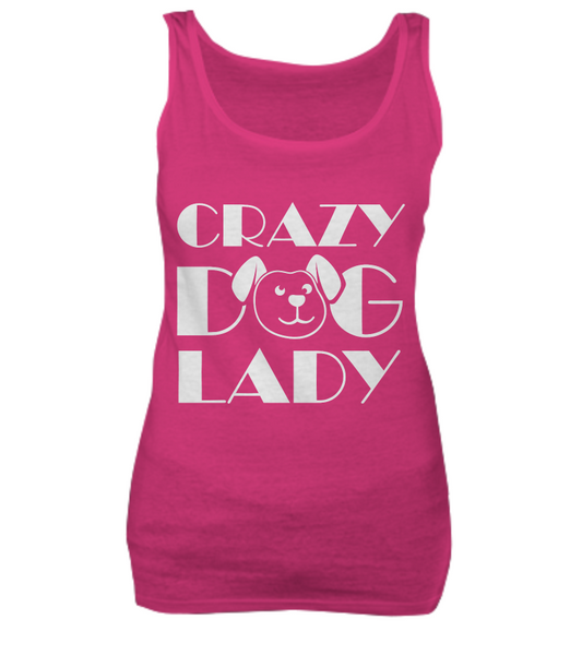 Crazy dog lady - tank + tee - Dogs Make Me Happy - 3