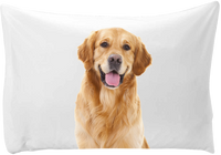 Personalized pillow case - hand printed - Dogs Make Me Happy - 7