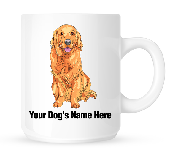 Personalized mug for your Golden Retriever - Dogs Make Me Happy