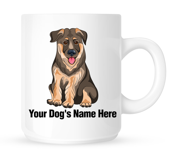 Personalized mug for your German Shepherd - Dogs Make Me Happy