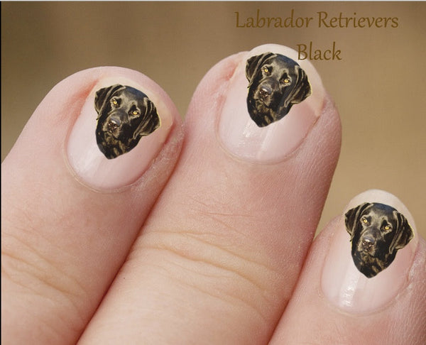Labrador nail art - Dogs Make Me Happy - 1
