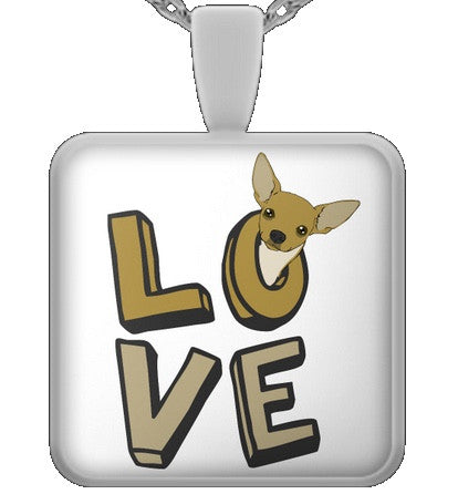 Love - chihuahua necklace - dog necklace - dog necklaces - dog stuff - Dogs Make Me Happy