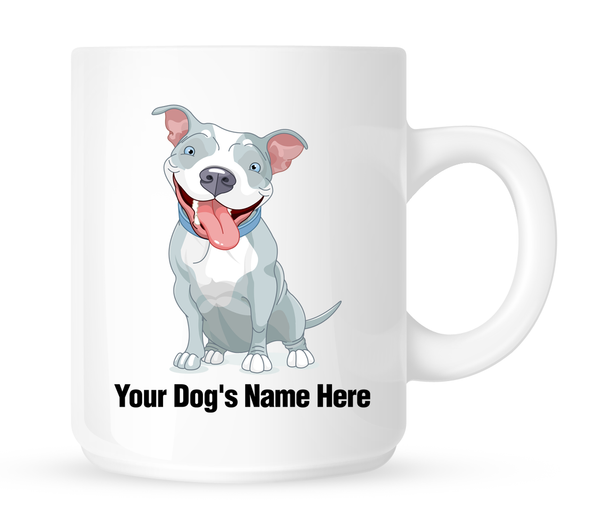 Personalized mug for your Pit Bull - Dogs Make Me Happy
