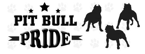 Pit Bull pride bumper sticker - Dogs Make Me Happy
