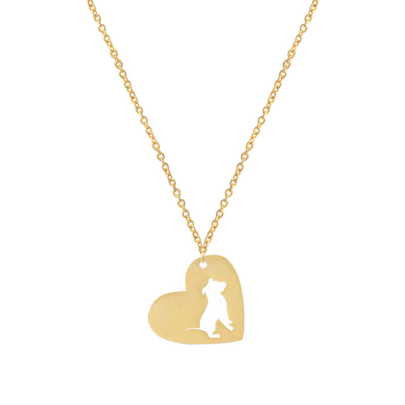 Pit Bull Heart Pendant Dog - Dogs Make Me Happy - 1