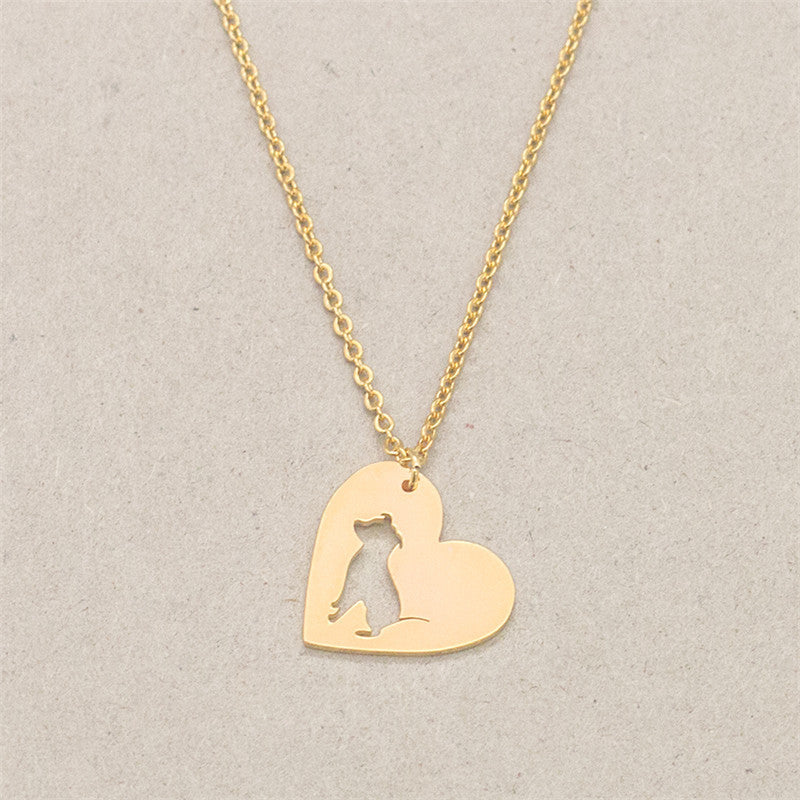 Pit Bull Heart Pendant Dog - Dogs Make Me Happy - 5