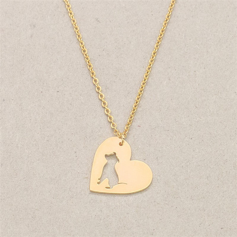 Pit Bull Heart Pendant Dog - Dogs Make Me Happy - 7