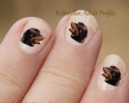 Rottweiler nail art - Dogs Make Me Happy - 1