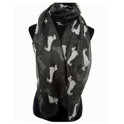 Dachshund print scarf - Dogs Make Me Happy - 1