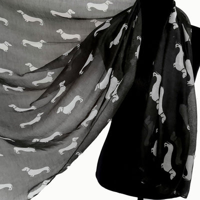 Dachshund print scarf - Dogs Make Me Happy - 2