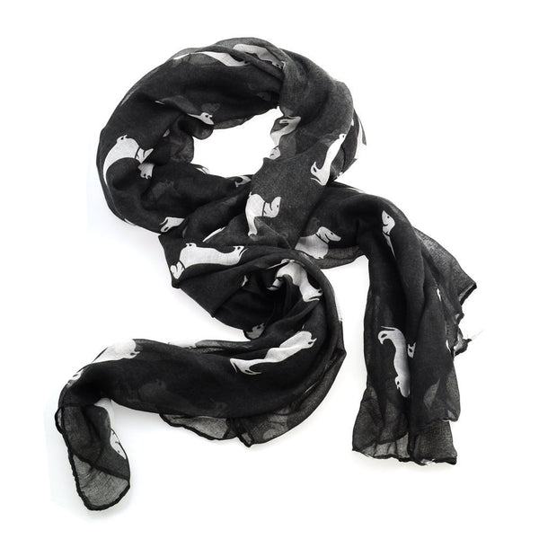 Dachshund print scarf - Dogs Make Me Happy - 3