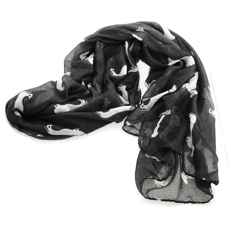 Dachshund print scarf - Dogs Make Me Happy - 4