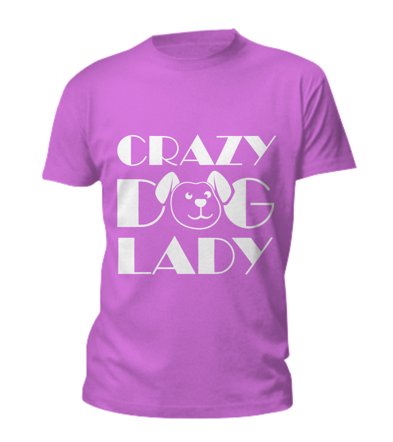 Crazy dog lady - tank + tee - Dogs Make Me Happy - 11