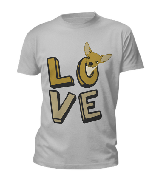 Love - Chihuahua tank + tee - Dogs Make Me Happy - 1