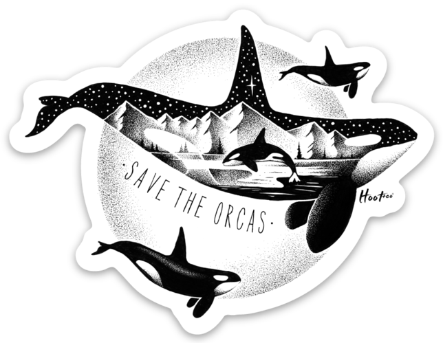 Save The Orca Sticker