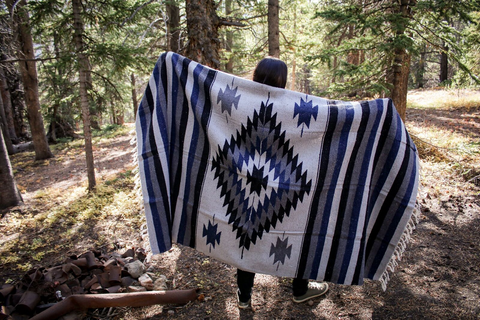 Adventure Aztec Blanket - TEAL