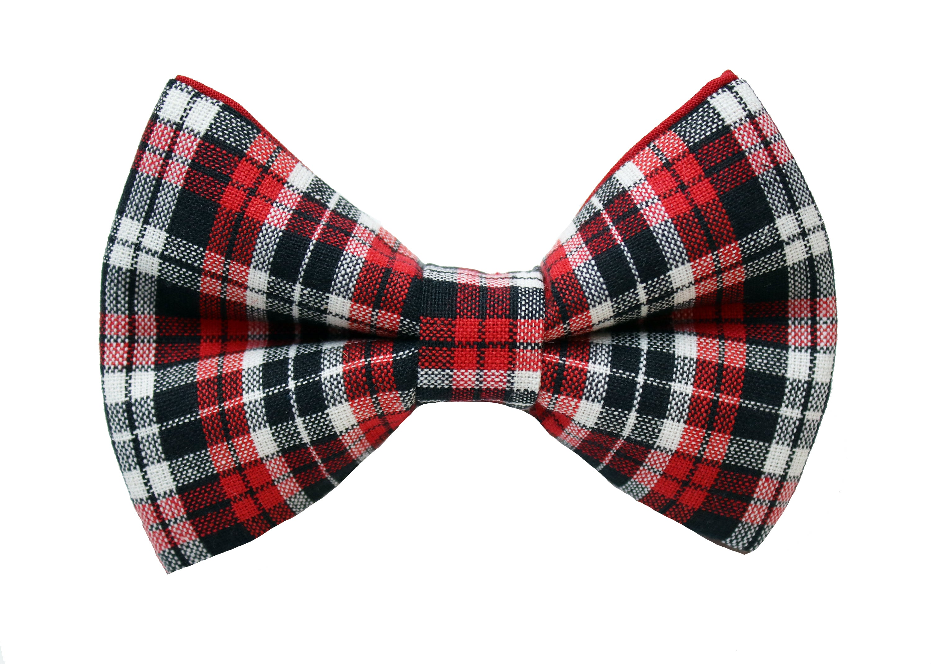 Cupid Plaid Bow Tie