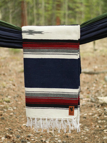 Adventure Diamond Aztec Blanket - Graystone