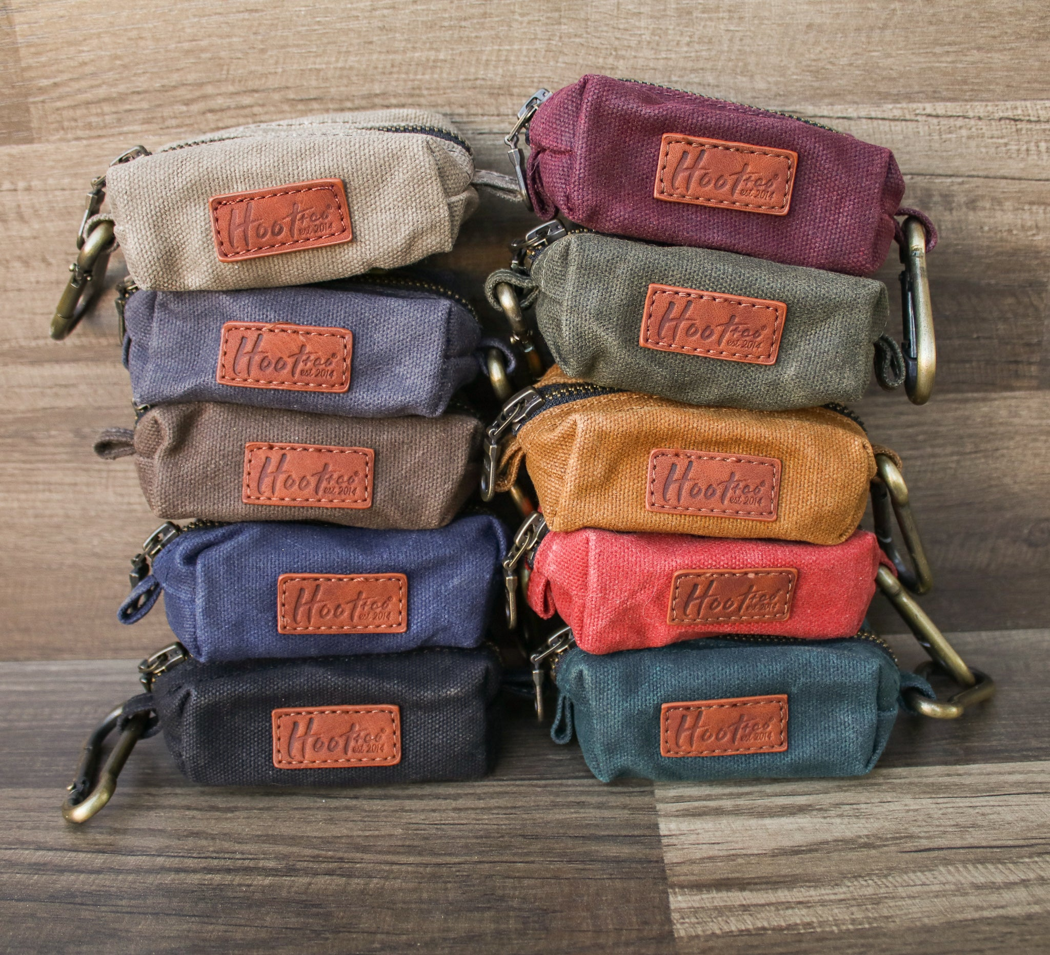 Waxed Canvas Poop Bag Holder - Mustard