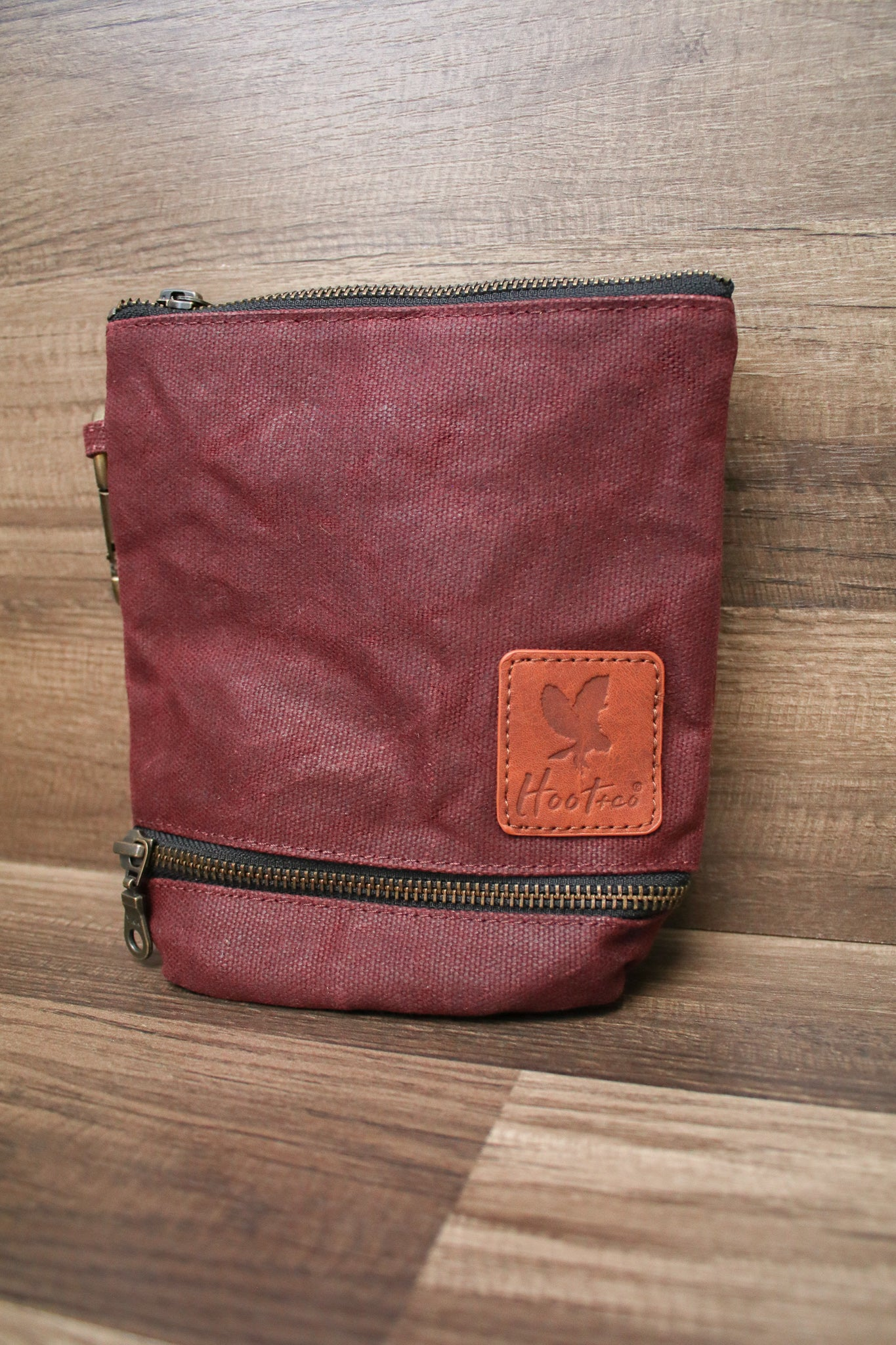 Waxed Canvas Combo Bag Holder - Plum