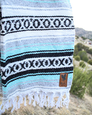 Adventure Aztec Blanket - MINT - Extra Large -