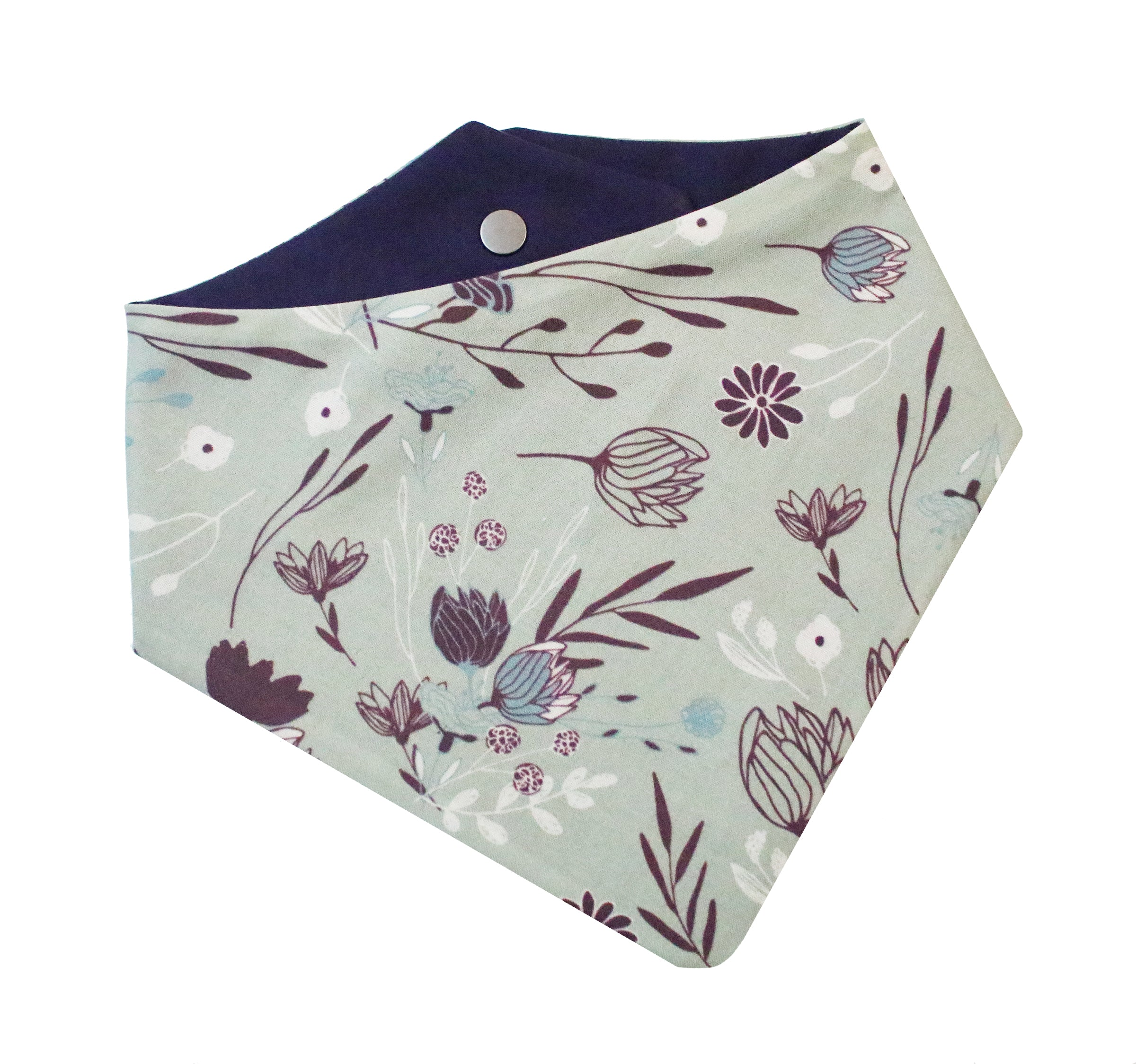 Mulberry Mint Floral Bandana
