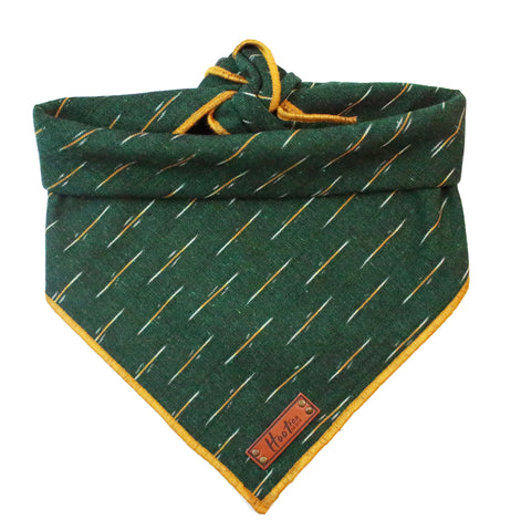 Forest Ikat Rolled Dog Bandana