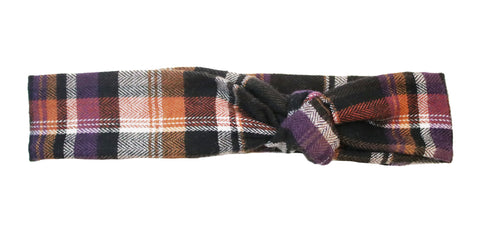 Raven Flannel Headband
