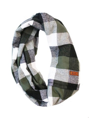 Forest Flannel Infinity Scarf