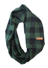 Clove Flannel Infinity Scarf