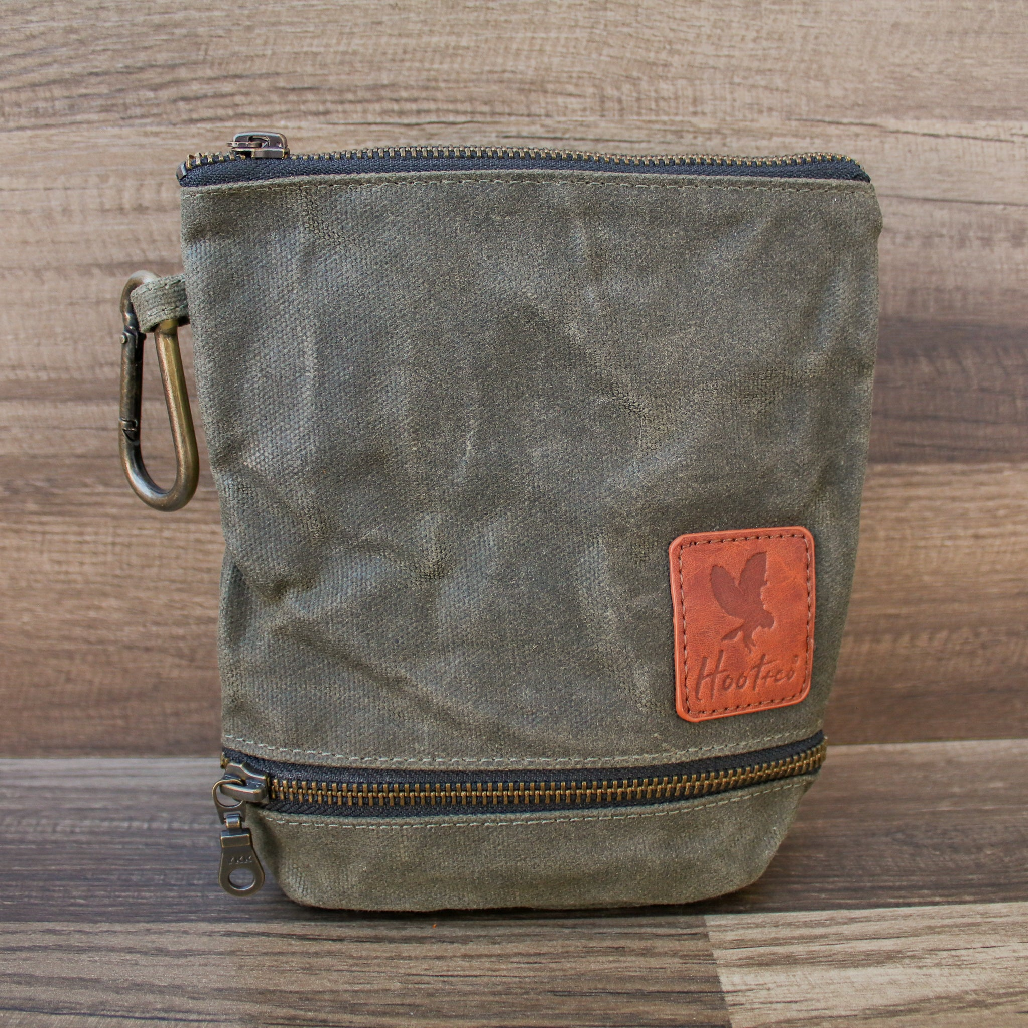 Waxed Canvas Combo Bag Holder - Olive