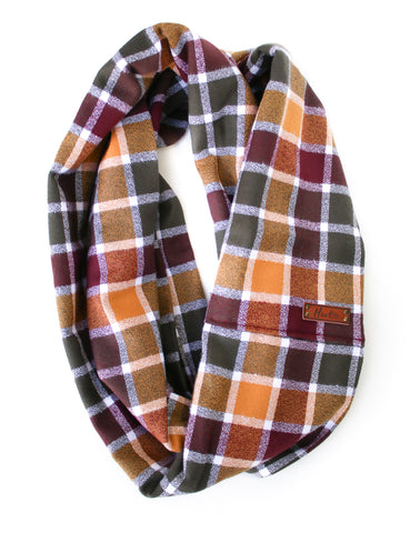 Holly Flannel Infinity Scarf