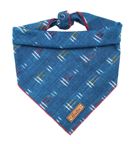 Dash Ikat in Navy Bandana