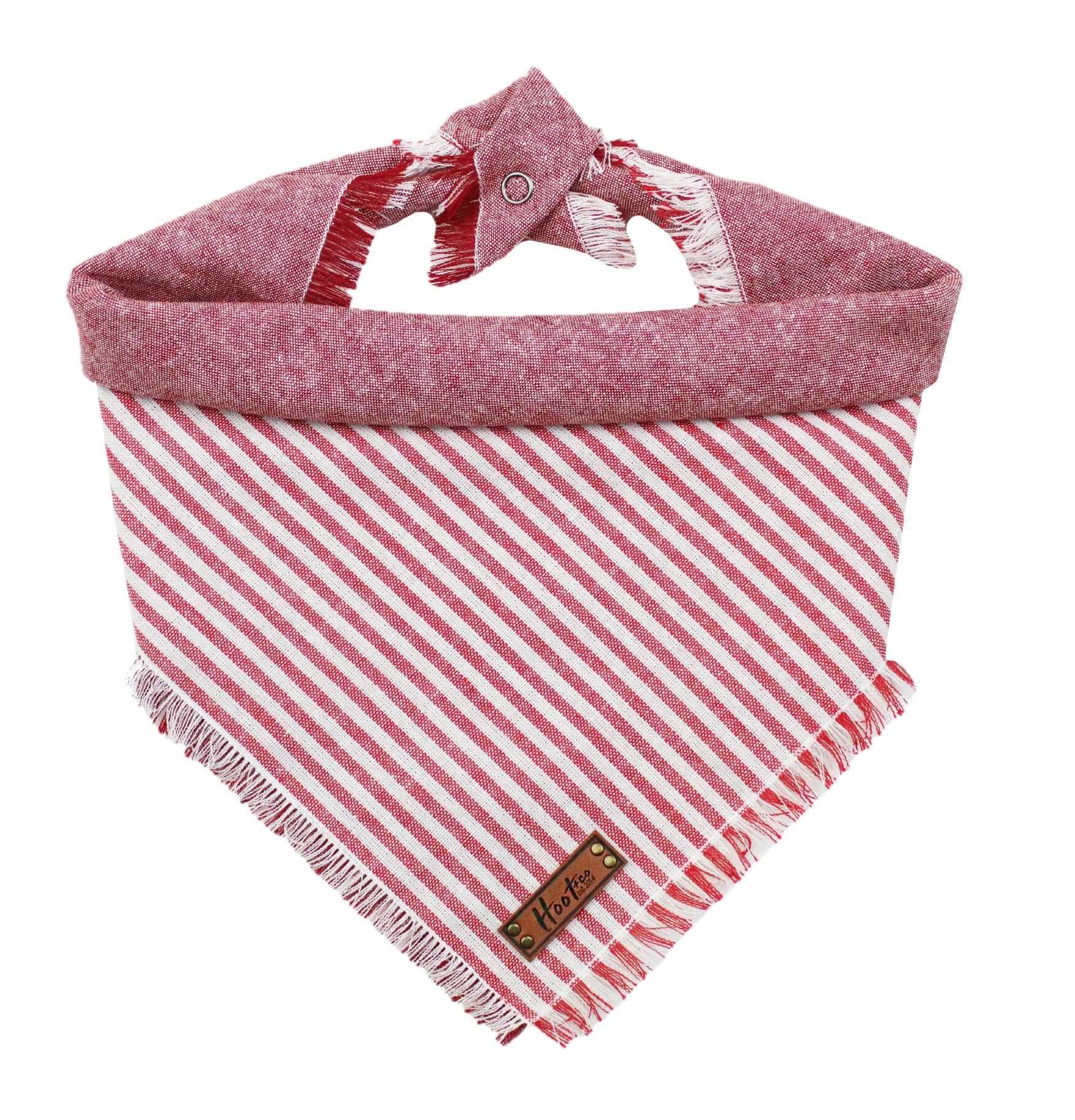 Lane Linen Red Frayed Bandana
