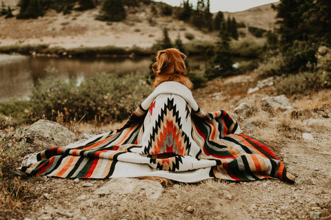 Adventure Diamond Aztec Blanket - Crestone