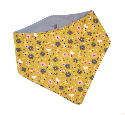 Poppy Floral Bandana - Yellow