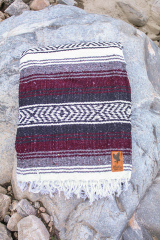Adventure Aztec Blanket - Maroon - Extra Large -