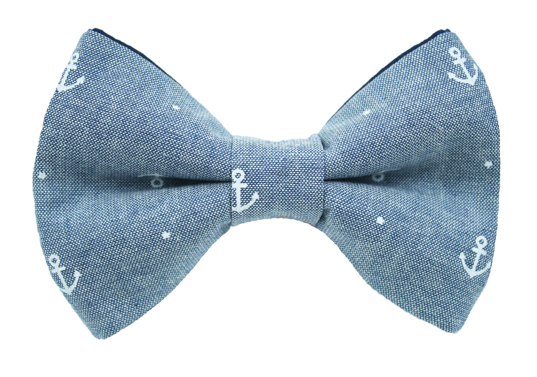 Denim Anchor Bow Tie