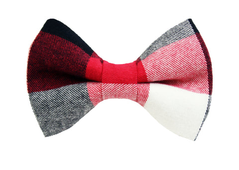 Buffalo Red Flannel Bow Tie