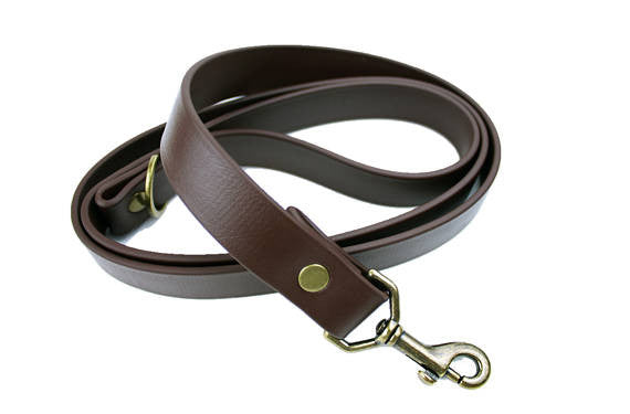 Cedar Vegan Leash - Antique Brass
