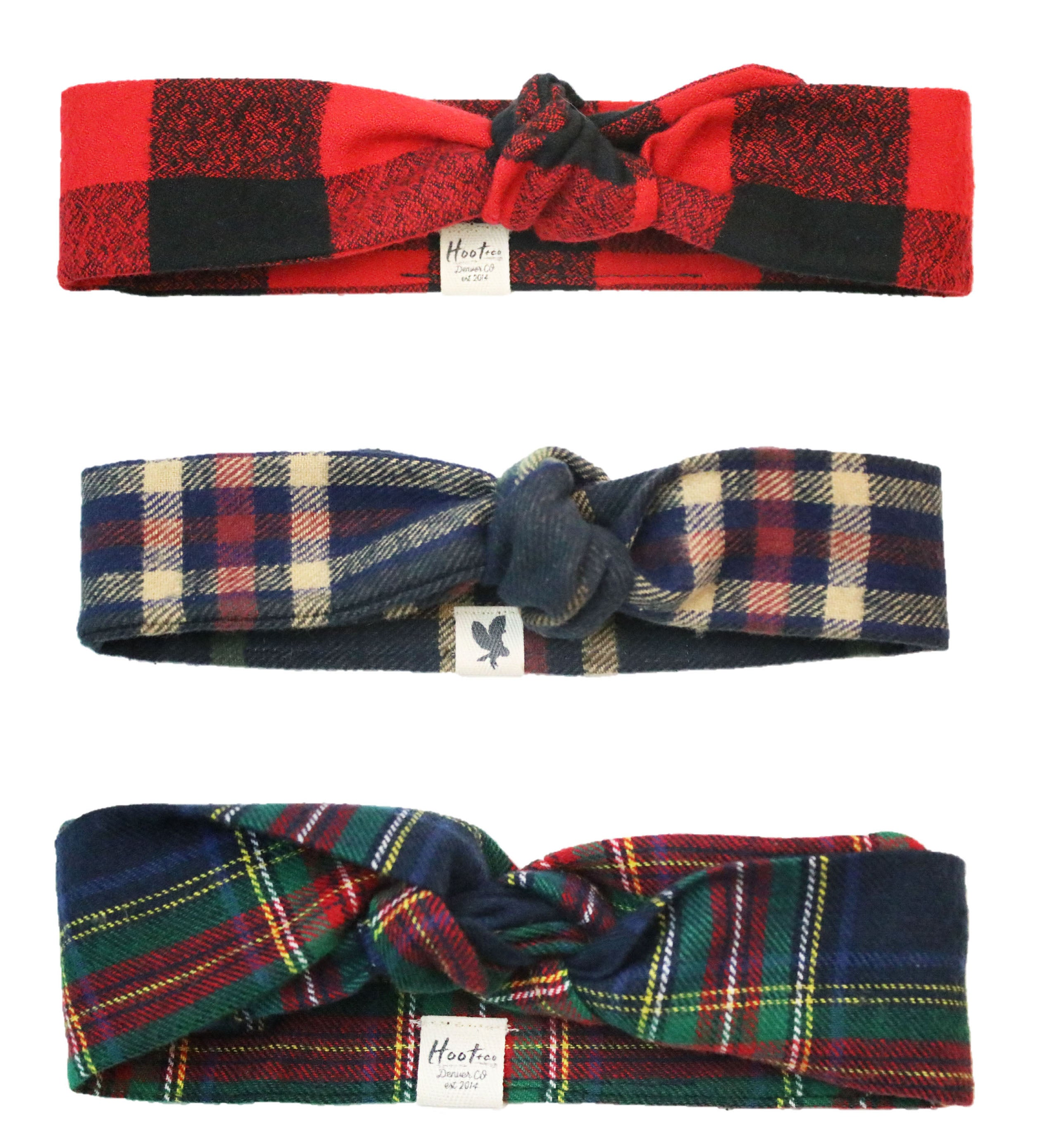3 Pack Flannel Headbands FBJ